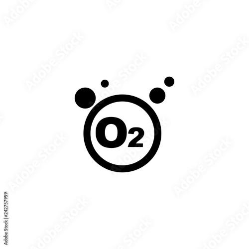 Fotografia oxygen icon vector. oxygen vector graphic illustration
