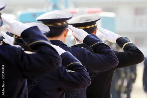 Cuadros en Lienzo 警察官 敬礼