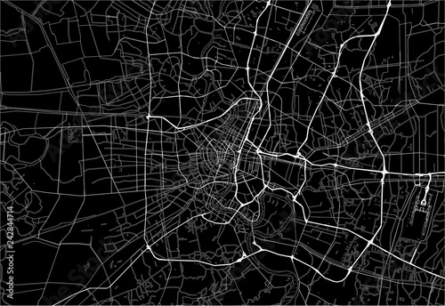 Fototapeta Dark area map of Bangkok, Thailand