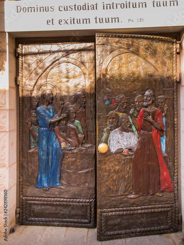 Obraz na plátne JERUSALEM, ISRAEL, JULY 13, 2015: Door of St