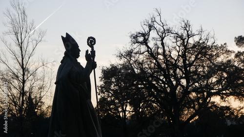 Photo Silhouette of Jose Alves Statue at Fatima