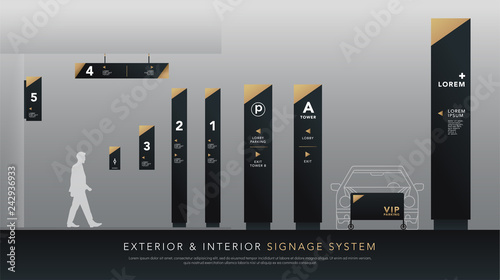 Photo exterior and interior signage system