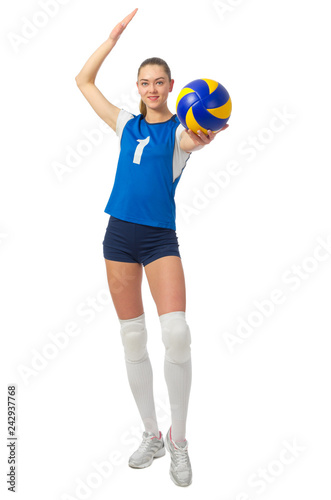 Young woman volleyball player