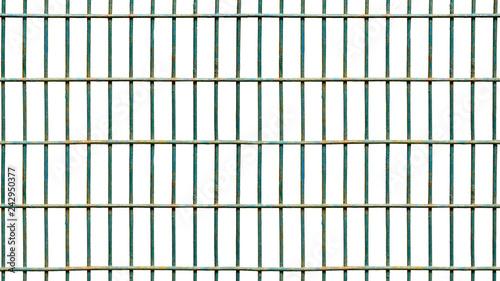 Slika na platnu Square iron cage isolate on white background