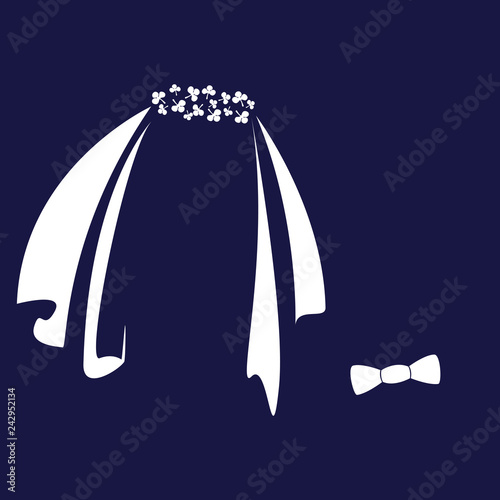 Wallpaper Mural Icon symbols of the bride and groom