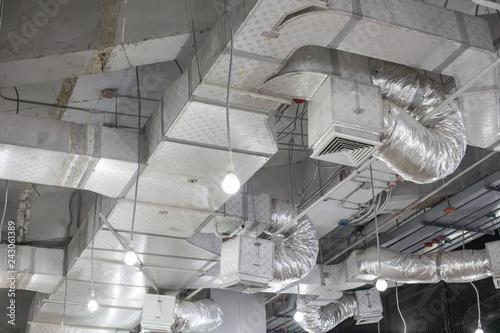Fotografía Pipes of air conditioning