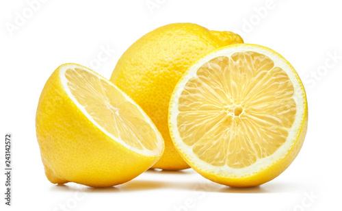Fotografie, Obraz lemon isolated on white background