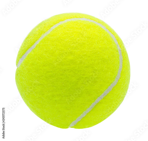 Canvas Print tennis ball isolated on white background with clipping path