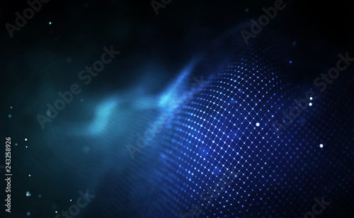 Photo Blockchain technology background