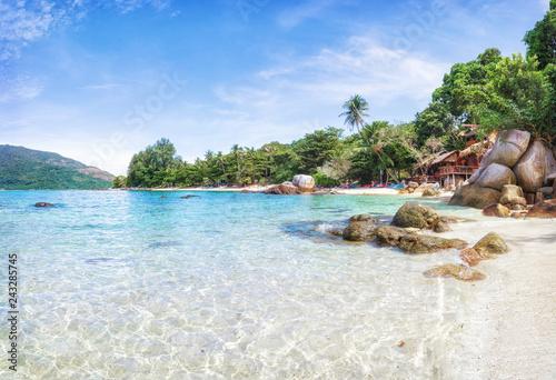 Stampa su Tela Panorama of asian paradise beach in Thailand