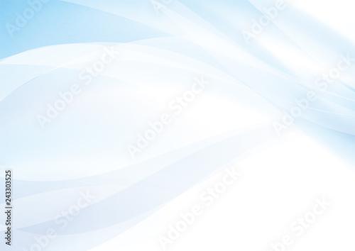 Tela 滑らかな曲線 波 アブストラクト 背景 青