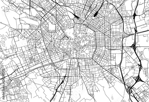 Canvas Print Area map of Milan, Italy