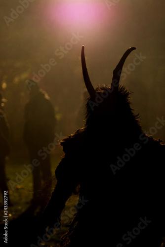 Fotografia, Obraz Silhouette of a Krampus