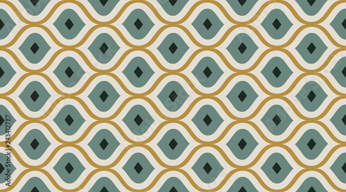 Photo Seamless pattern geometric