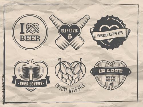 Fotografía Valentines day beer logos