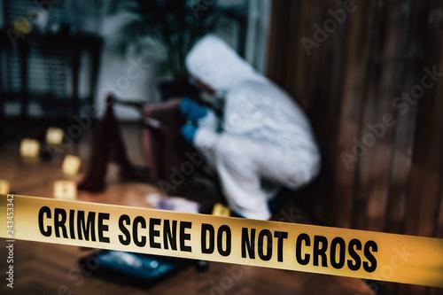 Valokuvatapetti Crime Scene Investigation