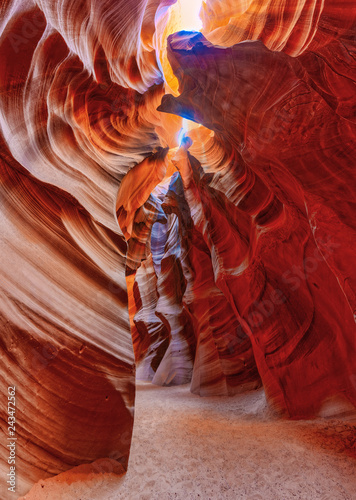 Carta da parati Antelope Canyon is a slot canyon in the American Southwest.