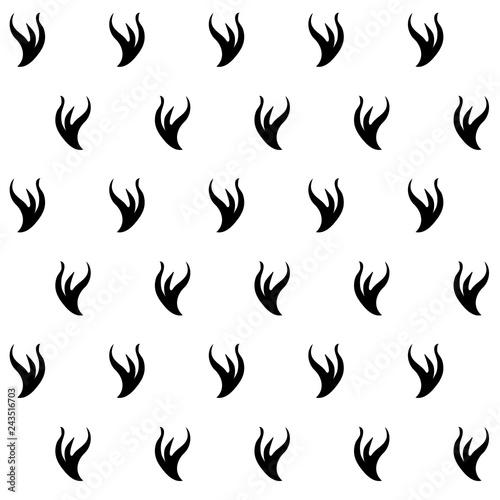 Obraz na płótnie Stilyzed ermine fur seamless pattern