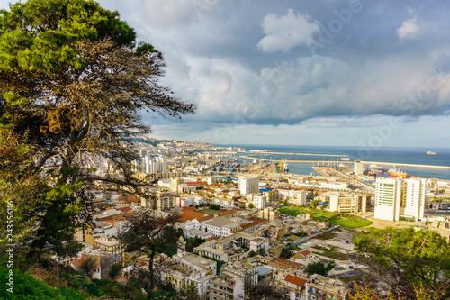 Algiers city sea port view.