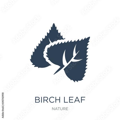 Carta da parati birch leaf icon vector on white background, birch leaf trendy fi