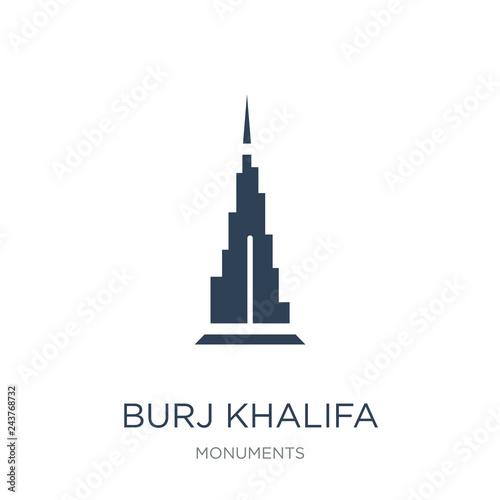Fotografia, Obraz burj khalifa icon vector on white background, burj khalifa trend
