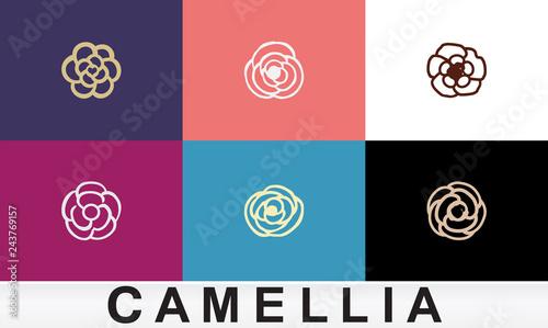 Fotografía eps Vector image: Logo material camellia