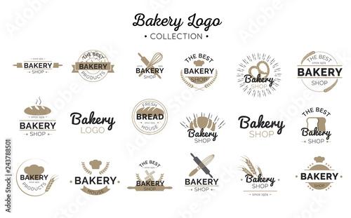 Stampa su Tela Bakery logo collection