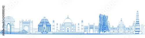 Valokuva Famous Indian monument and Landmark like Taj Mahal, India Gate, Qutub Minar and