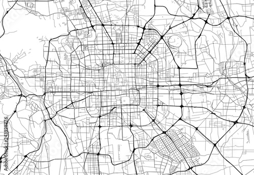 Fototapeta Area map of Beijing, China