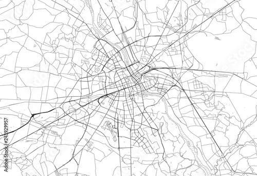 Mapa obszaru Warszawy