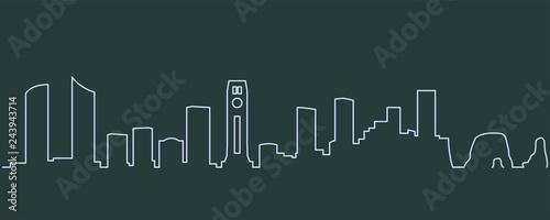 Fototapeta premium Bejrut jednowierszowy Skyline