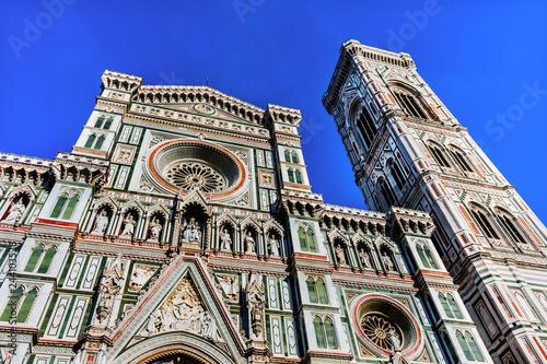Fotografia, Obraz Facade Duomo Cathedral Florence Italy