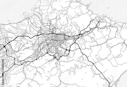 Obraz na plátně Area map of Taipei, Taiwan