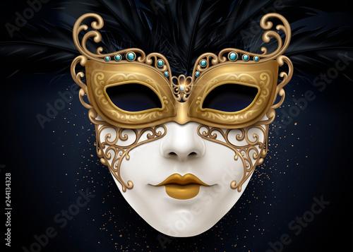Obraz na plátně Carnival beautiful mask