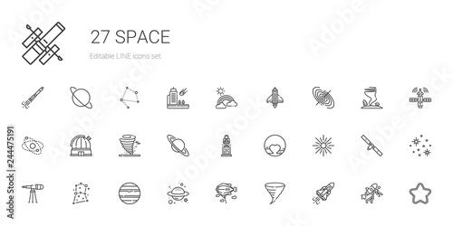 Fototapeta space icons set