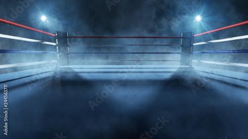 Foto Boxring im Scheinwerferlicht