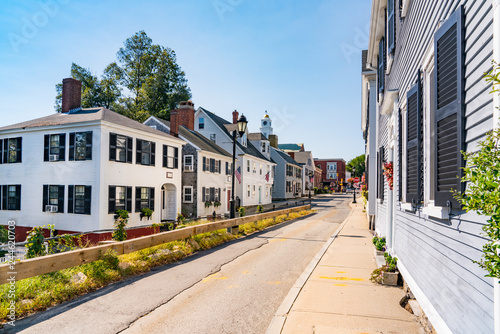 Fotografia Historic homes in Plymouth, Massachusetts