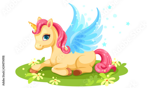 Cute baby unicorn fantasy