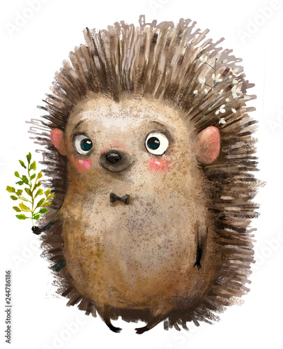 Fotografia, Obraz little cartoon hedgehog
