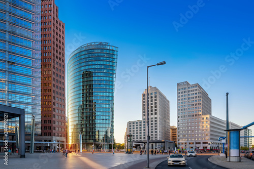 panoramic view at the potsdamer platz berlin