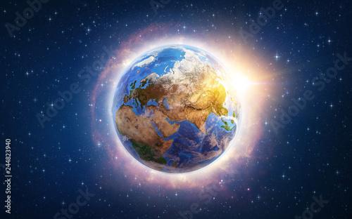 Canvas Print Global warming on Earth