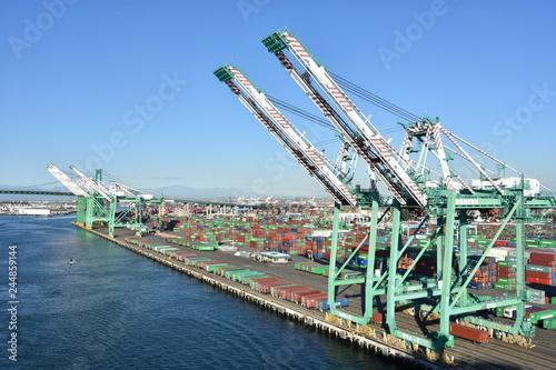 Fototapeta premium Port w Los Angeles w San Pedro w Kalifornii