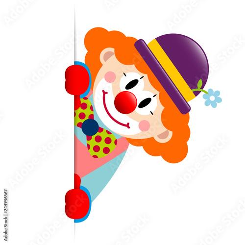 Vászonkép Clown