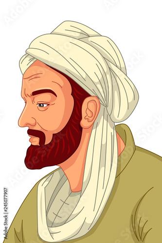 Fotografiet Avicenna Muslim Physician Illustration