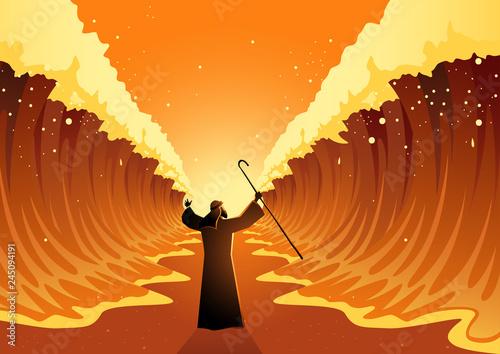 Fototapeta Moses and The Red Sea