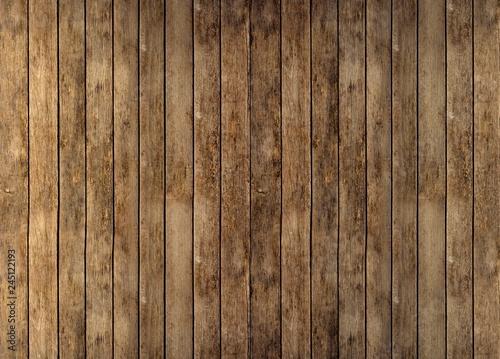 Floor or wall of rustic wooden boards