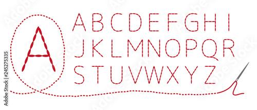 Fotografering 和風刺繍 アルファベット(大文字)返し縫い
