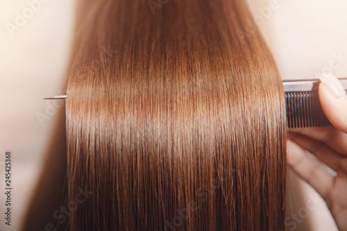 Canvas-taulu Sick, cut and healthy hair care straightening