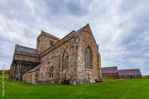 Obraz na płótnie Iona Abbey Exterior on a Cloudy Day