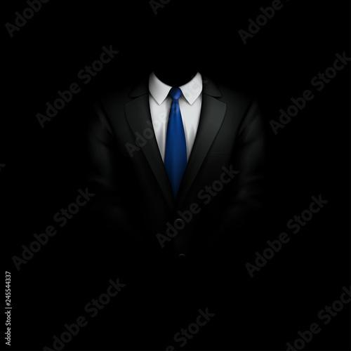 Canvas-taulu black suit with tie